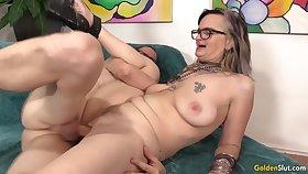 GILF Lilith Lust Mounts  BFs Dick
