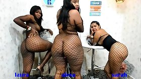 Duo BBW Latinas and a handful of Strapon