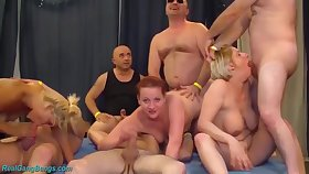 Extreme german fisting swinger tour line orgy