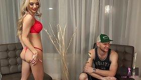 Molly Mae enjoying a blowbang sesh in front of her cuckold boyfriend