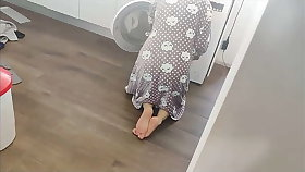 Fucking my friend's mother inside the washing machine in doggy style, cumshot in say no to aggravation