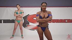 Interracial lesbian couple Cheyenne Jewel and Kelli Provocateur