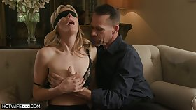 Threesome surprise for sex-starved wife hither small tits Mona Wales