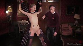 Skinny peaches plays submissive be fitting of her old master