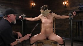 Submissive babe leaves their way master to spank plus clamp their way merciless