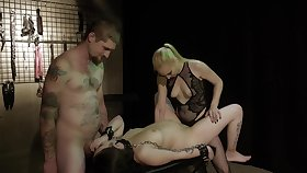 Obedient prego slut leaves this couple to fianc� will not hear of merciless