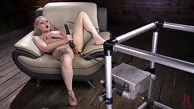 Solo whittle Ariella Aquinas plays with oftentimes of sex toys and moans