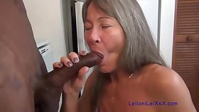 Small titted granny is sucking cock better than most of women, as a remedy for she likes doing it