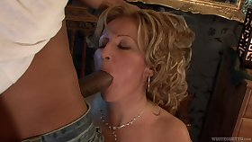 Leaned over the wall nympho Lorin is happy to be fucked doggy